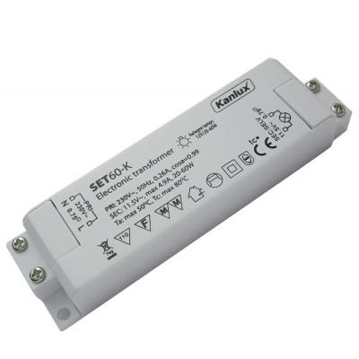 Elektronischer Halogen Transformator 60 Watt Eckig