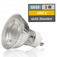 3 Watt MCOB LED Leuchtmittel 230 Volt GU10 Warmweiß