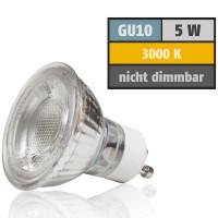 5 Watt MCOB LED Leuchtmittel 230 Volt GU10 Warmweiß