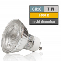 7 Watt MCOB LED Leuchtmittel 230 Volt GU10 Warmweiß