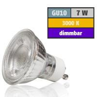 7 Watt MCOB LED Leuchtmittel 230 Volt GU10 Dimmbar Warmweiß