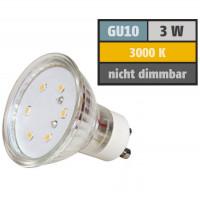 3 Watt SMD LED Leuchtmittel 230 Volt GU10 Warmweiß