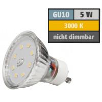5 Watt SMD LED Leuchtmittel 230 Volt GU10 Warmweiß