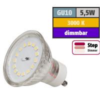 5 Watt SMD LED Leuchtmittel 230 Volt GU10 Step Dimmbar Warmweiß