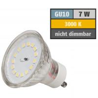7 Watt SMD LED Leuchtmittel 230 Volt GU10 Warmweiß