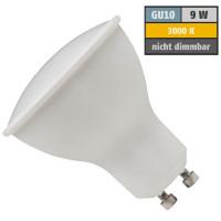 9 Watt SMD LED Leuchtmittel 230 Volt GU10 Warmweiß